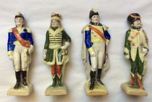 Antique French General Porcelain Figurines By Scheibe Alsbach
