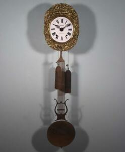 Antique French Comtoise Morbier Wall Clock Complete Running
