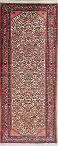 Handmade Fine Wool Geometric Persian Malayer Narrow Runner Rug Oriental 3x7