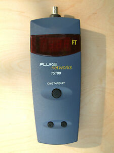 Pristine Condition Fluke Networks Ts100 Cable Fault Finder With Case And Leads