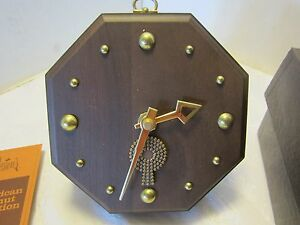 Mid Century Josten S Lindor Solid Walnut Wall Clock Tochigi Tokei 5 Desk Vtg