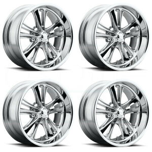 4 New 17 Foose Knuckle F097 Wheels 17x7 17x8 5x4 5 1 1 Chrome Staggered Rims