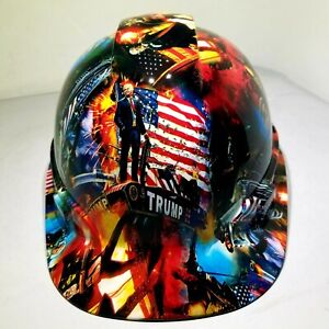Hard Hat Cap Style Custom Hydro Dipped Donald Trump Maga Factory Approved New