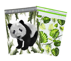 10x13 Tropical Palm Leaves Panda Bear Poly Mailers Usps Shipping Mailing Bags