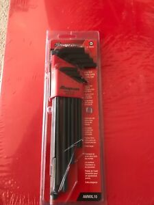 Snap On Extra Long Hex allen Set 10 Piece 1 5 10mm New