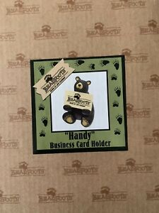 Jeff Flemming Bearfoots handy Business Card Holder Brand New In The Box