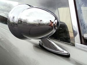 Chrome Bullet Door Mirrors Classic Musclecar Hotrod Vintage Universal Pair New