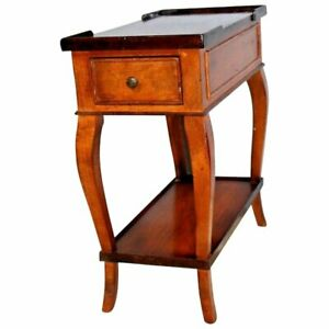 Vintage Baker Milling Road Made In Italy Side Console Table With Bottom Shelf