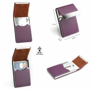 Maxgear Pu Leather Business Card Holder For Women Professional Business Name Car