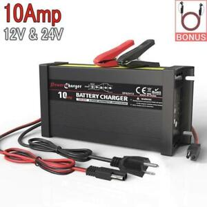 Truck Battery Charger Maintainer Auto Trickle Deep Cycle Charging Lead Acid