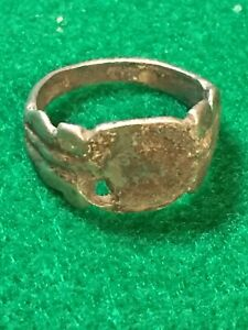 Ancient Roman Silver Ring 1st 3rd Century Ad