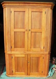 Antique Federal Corner Cupboard Cabinet