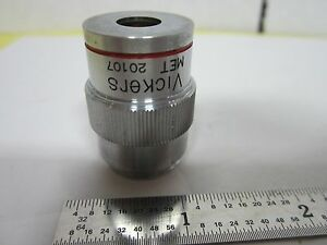 Vickers England Objective Splan Met 4x Microscope Optics Bin h1 14