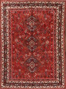 Super Deal Antique 7x9 Wool Persian Qashqai Area Rug Oriental Wool 8 6 X 6 2