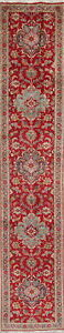 Palace Size Handmade Wool Narrow Persian Tebriz Floral Oriental Runner Rug 2x14