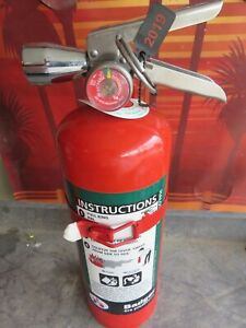 Full certified 5lb Badger Halotron Fire Extinguisher Xlnt Condition