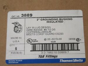 2in Rigid Conduit Insulated Grounding Bushing Tb 3889 Lot 10pc 2in Grd Bushing
