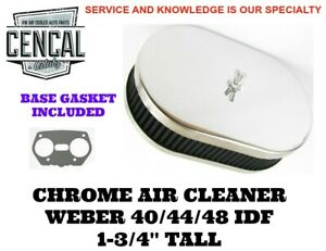 Vw Porsche Chrome Air Cleaner Weber 40 44 48 Idf 1 3 4 Tall A11 1