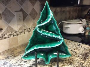 Vintage Atlantic Mold Christmas Tree Divided Serving Tray Candy Nut Dish