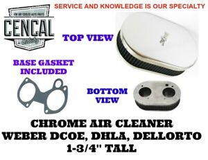 Chrome Air Cleaner Weber Dcoe Dellorto Dhla 1 3 4 Tall A9 1