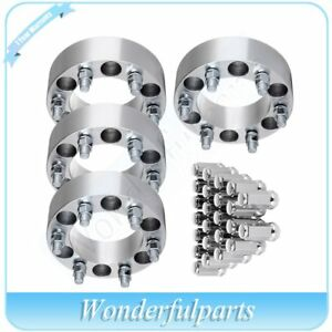 4x 2 Thick 6x5 5 14x1 5 Wheel Spacers 24pcs Lug Nuts For 02 05 Chevrolet Astro