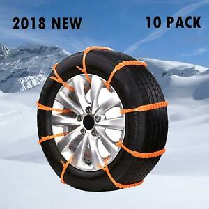 Tire Snow Chains Mud Sandapplicable Tire Width 165 275mm 6 5 10 8in 8 Pack
