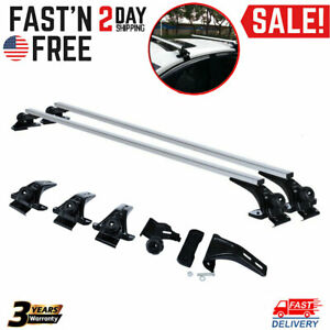 Universal Car Top Roof Rack Cross Bar 53 94 Luggage Carrie Adjustable Aluminum