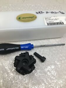 New Greenleaf 2 Face Mill Cutter 3 4 Arbor Coolant Through 440215