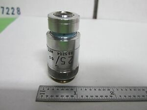 Microscope Objective Vickers England 25x Optics Bin r6 19
