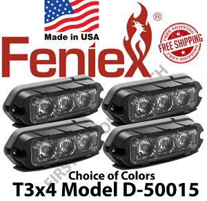 Feniex T3 Surface Mount Grill Deck Led Light Package Of 4 Lights