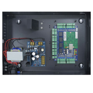 Four Door Panel Access Control Package W Power Supply Alarm Fire Control