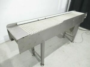 Table Top Conveyor 13in 1 2 w x 75 In l Used Tested