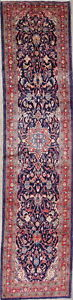 One Of A Kind Floral Persian Oriental Mahal Handmade 3x15 Runner Rug Over Sized