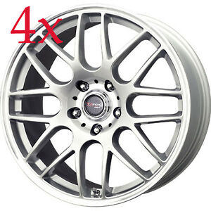 Drag Wheels Dr 37 17x7 5 5x120 42 Silver Rims For Bmw X3 135i 128i 325 328 330