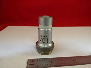Microscope Part Vickers England Uk Objective Microplan 10x Optics As Is 21 a 21