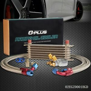 Gplus 7row An10 Thermostat Adapter Engine Racing Oil Cooler Kit Oil Lines