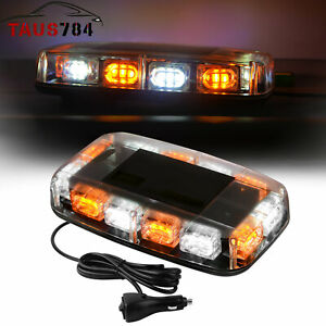 30w White Amber 36 Led Emergency Warning Flash Roof Top Led Strobe Light Bar