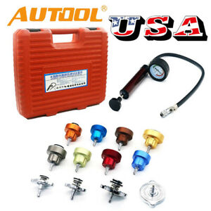 Car Radiator Pump Pressure Leak Tester Water Tank Cooling System Detector Kit