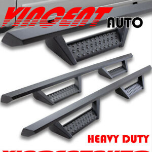 Fit 19 20 Chevy Silverado Crew Cab 3 Drop Side Step Running Board Nerf Bar Bk