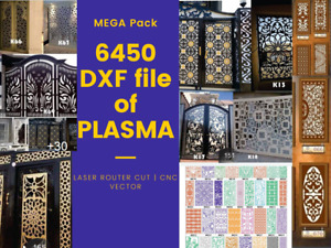 6450 Dxf Of Plasma Laser Router Cut Cnc Vector Dxf cdr Mega Pack Dxf Files