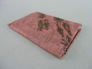 Japanese Wrap Cloth Furoshiki Vtg Kimono Fabric Hankerchief Brown Nylon Fu71