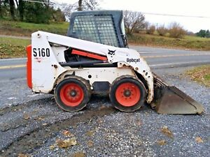 2004 Bobcat S160 Skid Steer Cab Heat Erops Switchable Hand And Foot Controls