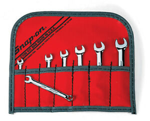 New Snap On 7 Pc 6 Point Midget Metric Combo Wrench Set Oxim707sbk Ships Free