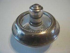 Antique 1930 S Frank M Whiting Sterling Silver Glass Table Cigarette Lighter