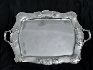 Antique Gorham American Repose Large Silver Plated Tray Pattern 0169 Marked