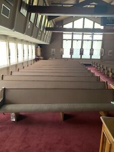 30 Used Church Pews Fully Upholstered With Wood Back Pockets