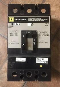 Square D Kip36200 200 Amp 200 Kaic Circuit Breaker Bus Plug New