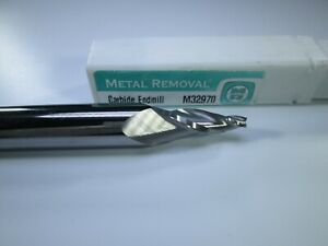 Metal Removal Cpt 3 Tapered Flutes 10 Degree Carbide 1 2 X 1 8 End Mill Tool