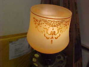 Beautiful Vintage Art Deco Lamp Shade Glass Original Period