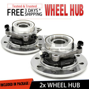 2x Front Wheel Hub Bearing For 1996 2000 Chevrolet K2500 Ls lt wt silverado Pair